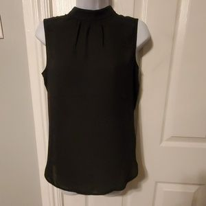 NYDJ Petite Shirred Front Shell Blouse